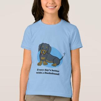 Cute Cartoon Dog Dachshund T-Shirt