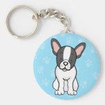 Cute Cartoon Dog French Bulldog Keychain