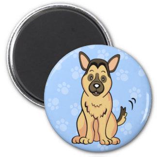 Cute Cartoon Dog German Shepherd Magnet