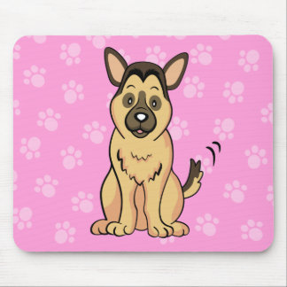Cute Cartoon Dog German Shepherd Mousepad