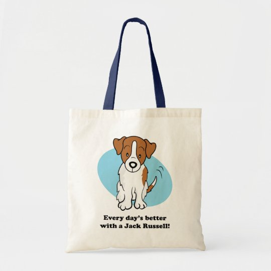 Cute Cartoon Dog Jack Russell Bag