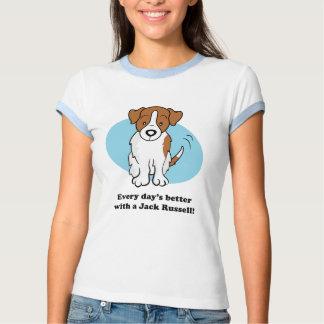 Cute Cartoon Dog Jack Russell T-Shirt