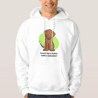 Cute Cartoon Dog Labrador Hoodie