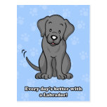 Cute Cartoon Dog Labrador Postcard
