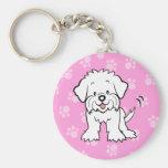 Cute Cartoon Dog Maltese Keychain