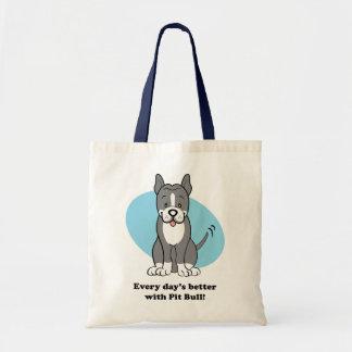 Cute Cartoon Dog Pitbull Bag