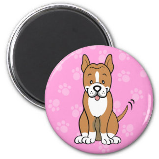 Cute Cartoon Dog Pitbull Magnet