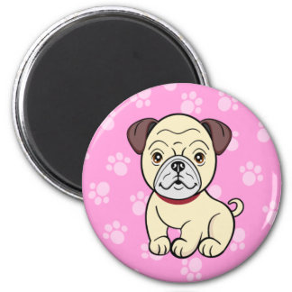 Cute Cartoon Dog Pug Magnet