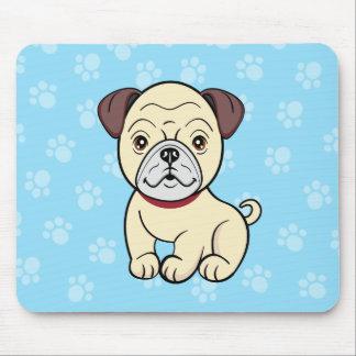 Cute Cartoon Dog Pug Mousepad