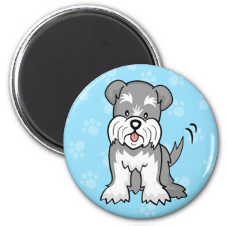 Cute Cartoon Dog Schnauzer Magnet