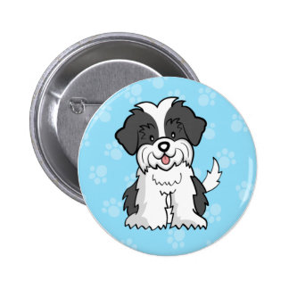 Cute Cartoon Dog Shih Tzu Button