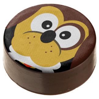 Cute Cartoon Dog With Bone Kids Party Treats Chocolate Dipped Oreo