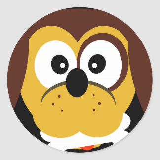 Cute Cartoon Dog With Bone Kids  Stickers