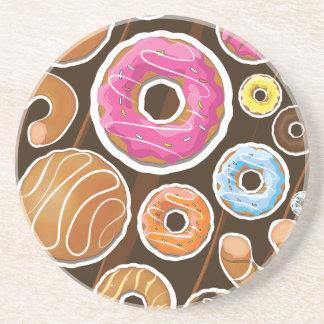 Cute Cartoon Dognuts Drink Coaster