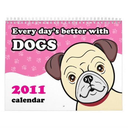 Cute Cartoon Dogs Calendar