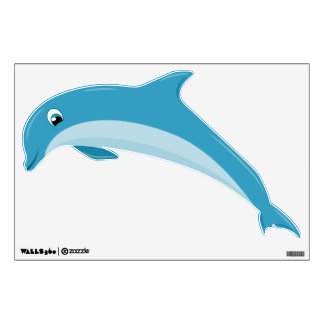Cute Cartoon Dolphin Jumping Dolphin Wall Sticker