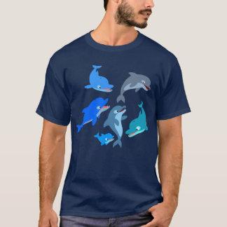 Cute Cartoon Dolphin Pod T-Shirt