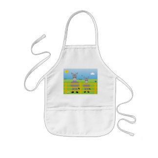 Cute Cartoon Donkeys Charity Kids' Apron