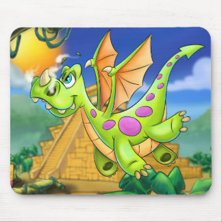 cute cartoon dragon mouse mouse pad