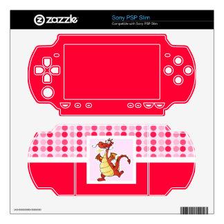 Cute Cartoon Dragon Skins For PSP Slim