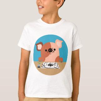 Cute Cartoon Drawing Piglet Children T-Shirt