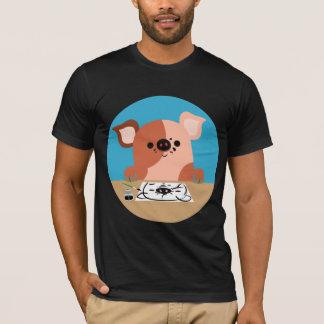 Cute Cartoon Drawing Piglet T-Shirt