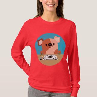 Cute Cartoon Drawing Piglet WOmen T-Shirt