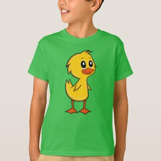 Cute Cartoon Duck Boy's T-Shirt