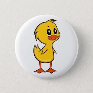Cute Cartoon Duck Button