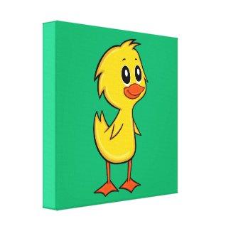 Cute Cartoon Duck Canvas Print