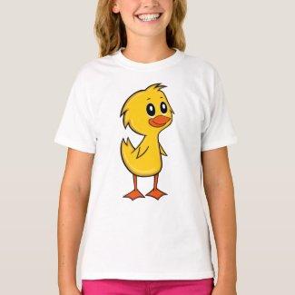 Cute Cartoon Duck Girl's T-Shirt