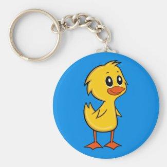 Cute Cartoon Duck Keychain