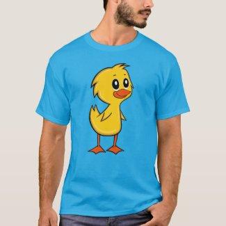 Cute Cartoon Duck Men's Ringer T-Shirt