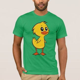 Cute Cartoon Duck Men's T-Shirt