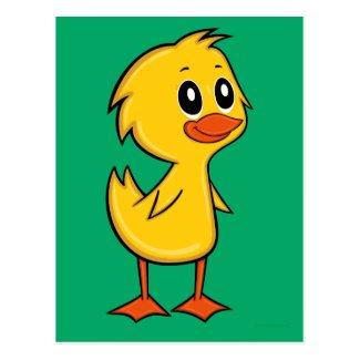 Cute Cartoon Duck Postcard