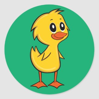 Cute Cartoon Duck Sticker