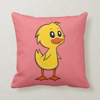 Cute Cartoon Duck Throw Pillow