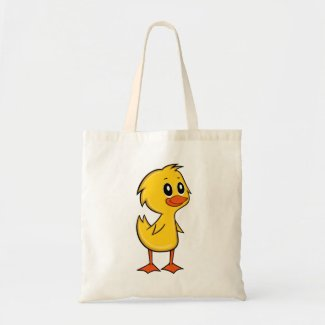 Cute Cartoon Duck Tote Bag