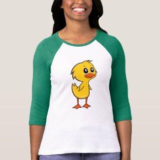 Cute Cartoon Duck Women's 3/4 Sleeve T-Shirt