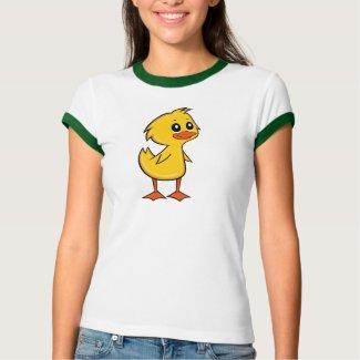 Cute Cartoon Duck Women's Ringer T-Shirt
