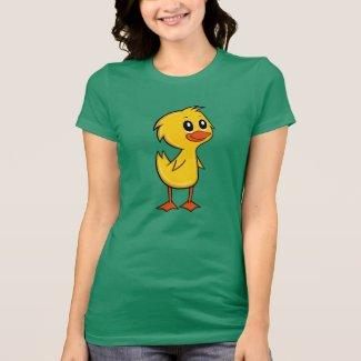 Cute Cartoon Duck Women's T-Shirt