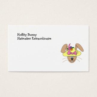Cute Cartoon Easter Bunny in A Bonnet Business Card
