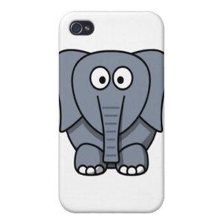 Cute Cartoon Elephant Clipart Cover For iPhone 4