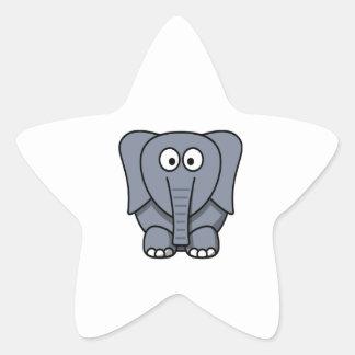 Cute Cartoon Elephant Clipart Star Stickers