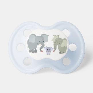 Cute Cartoon Elephant Family Baby Pacifier