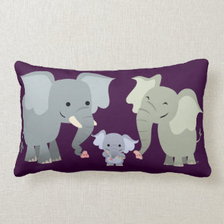 Cute Cartoon Elephant Family Pillow