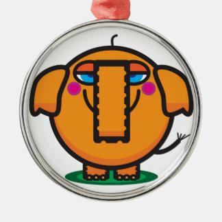 Cute Cartoon Elephant Metal Ornament