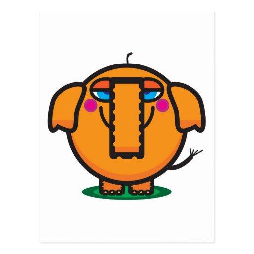 Cute Cartoon Elephant Post Card