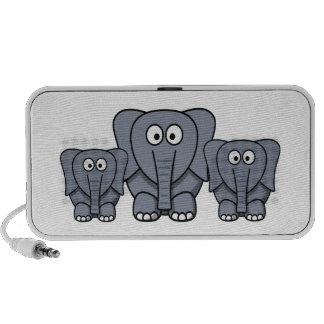 Cute Cartoon Elephants Speakers