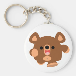 Cute Cartoon Energetic Bear keychain